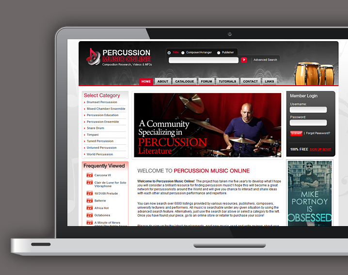 Purcussion Music Online